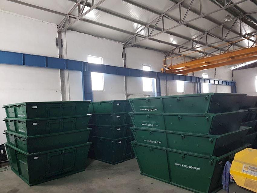V Type Skip bin with doors