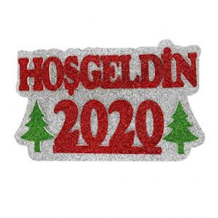 Welcome 2020 Foam Door Decoration 29x46cm Christmas Decoration Supplies