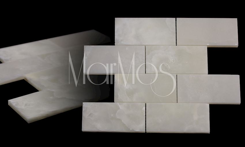 White Onix 7.5cm x 15cm Marble Stone