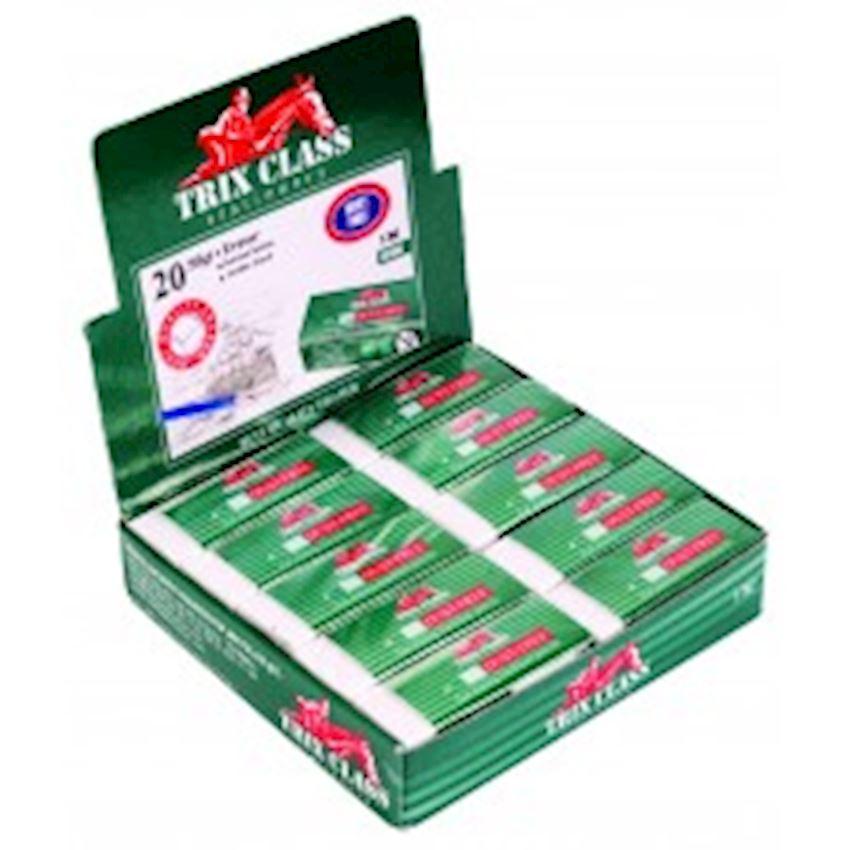 White Trix Class 20 Eraser Eraser