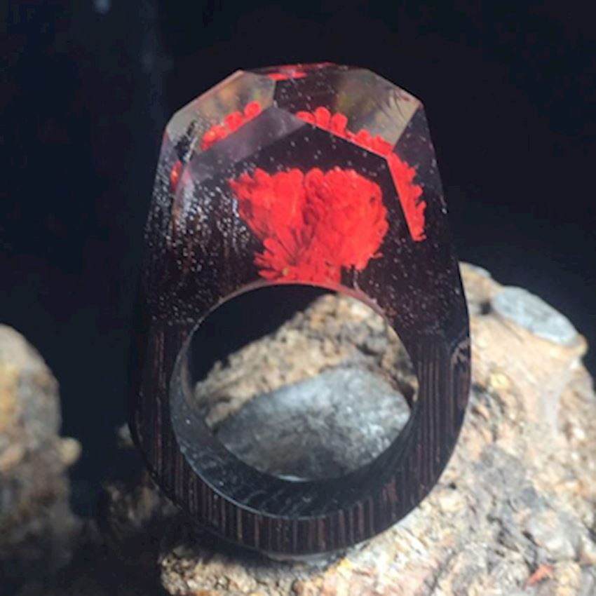 Wooden Gold Ring - AG300001