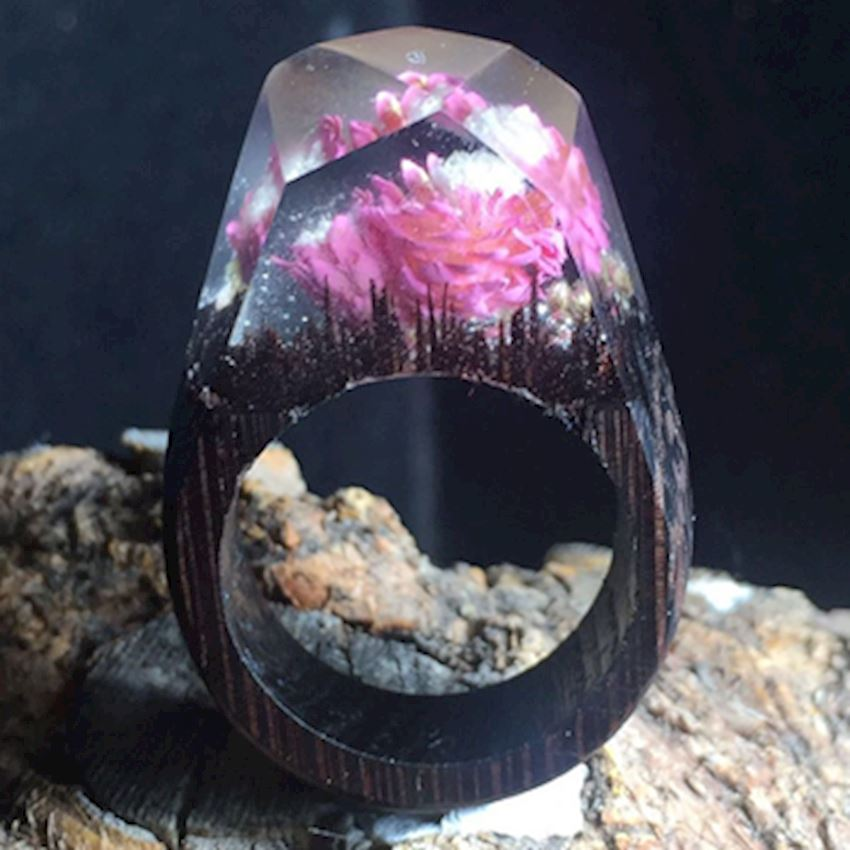 Wooden Gold Ring - AG300002