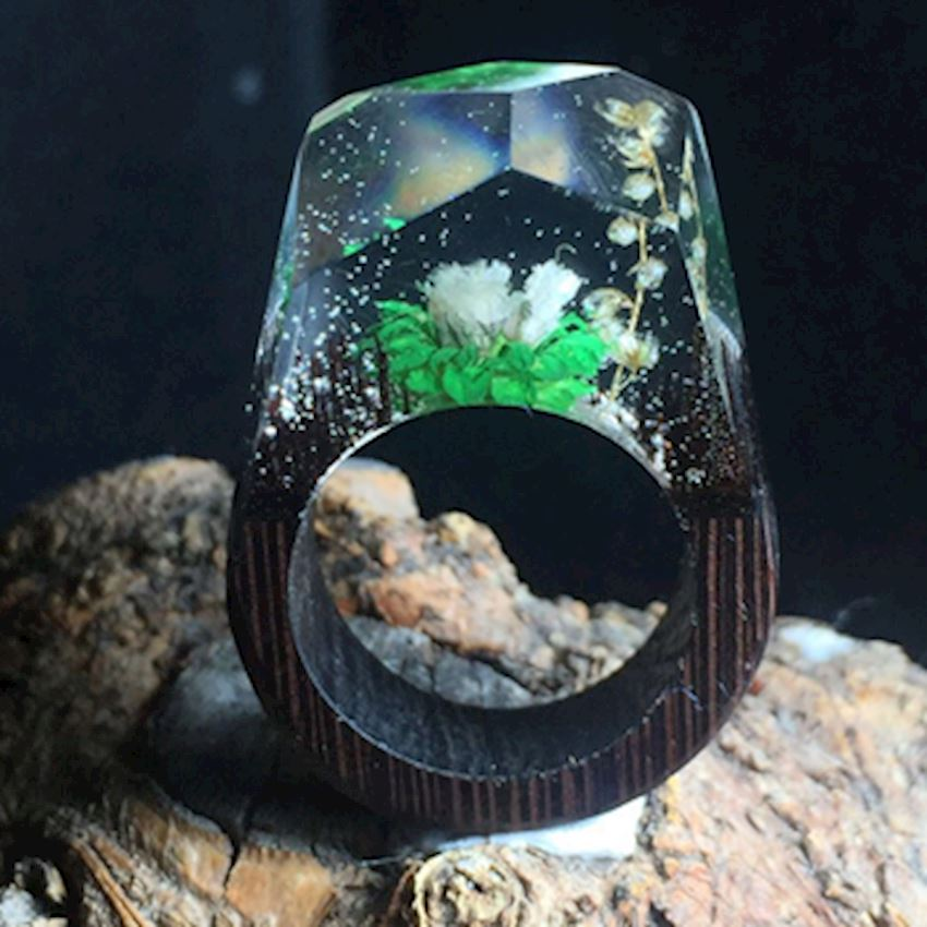 Wooden Gold Ring - AG300003