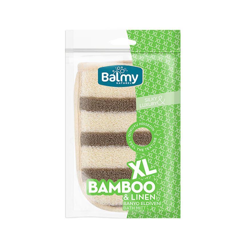 Xl Bamboo Linen Bath Gloves Bath Brushes, Sponges & Scrubbers