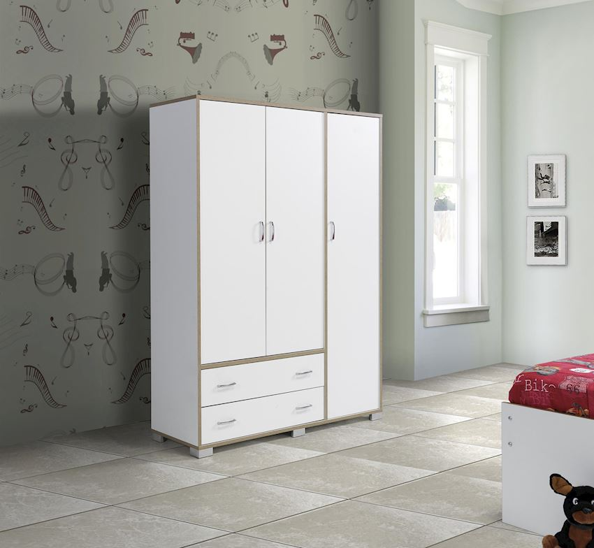 YILPA 3 DOORS WITH 2 DRAWERS Wardrobes