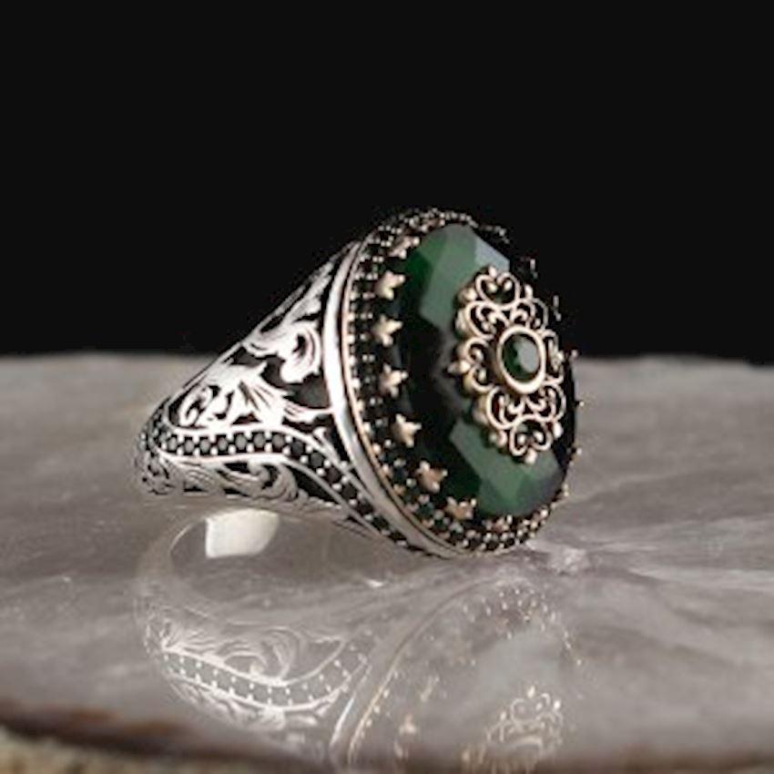 Zircon 925 Sterling Silver Men Ring