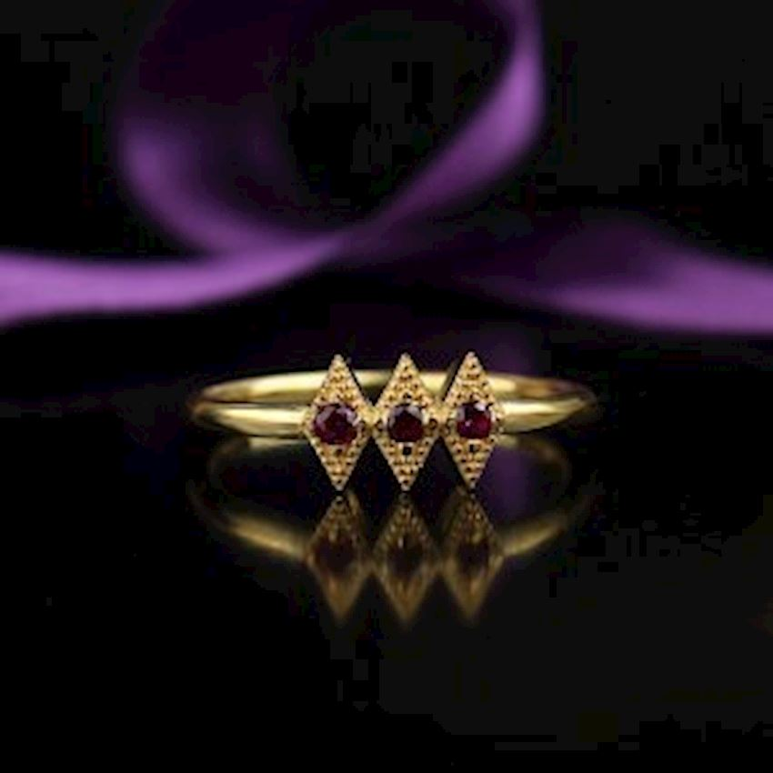 Zircon Gold Plated Silver Women Ring