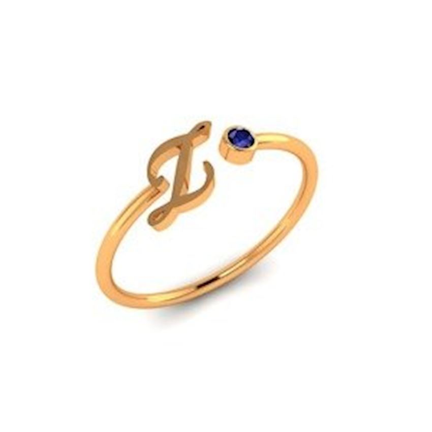 Zircon Gold Plated Women's Silver Ring