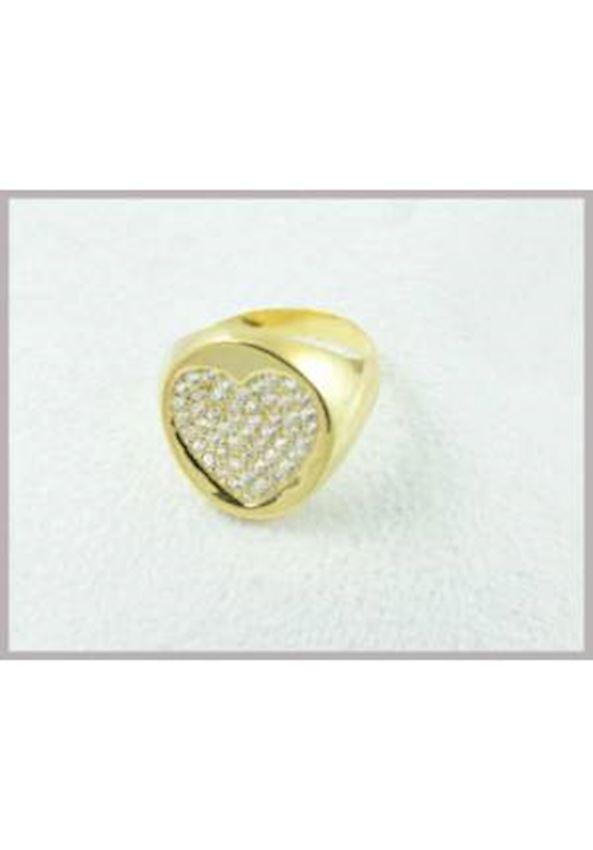 Zircon Heart Ring