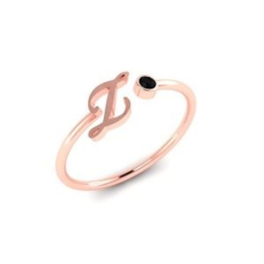 Zircon Rose Plated Women's Silver Ring