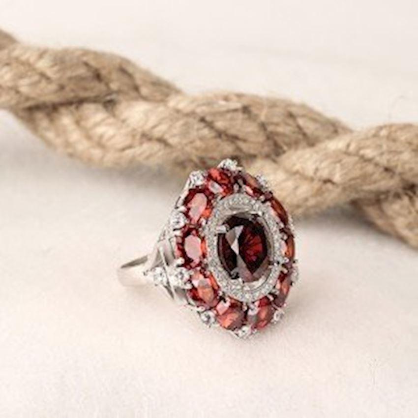 Zircon Women's Silver Ring